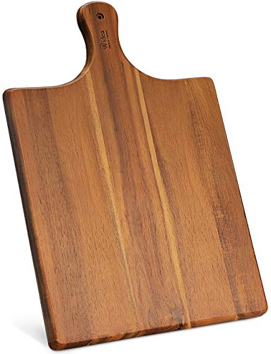 AIDEA Wood Cutting Board Large Charcuterie Board Serving Tray With Handle (17'x11')