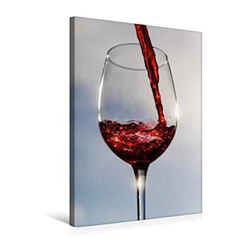 Calvendo Premium Textil-Leinwand 50 cm x 75 cm hoch, EIN Motiv aus dem Kalender Wein und Sekt   Wandbild, Bild auf Keilrahmen, Fertigbild auf echter Leinwand, Leinwanddruck Lifestyle Lifestyle