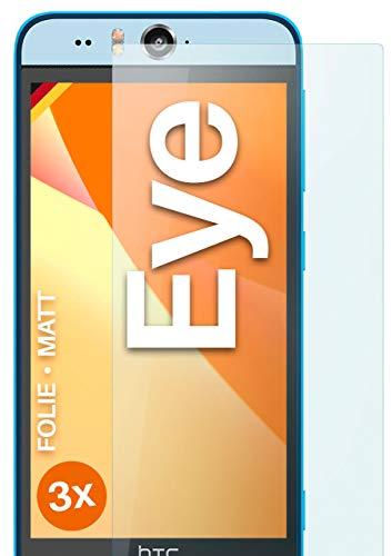 moex Schutzfolie matt kompatibel mit HTC Desire Eye - Folie gegen Reflexionen, Anti Reflex Bildschirmschutz, Matte Bildschirmfolie - 3X Stück