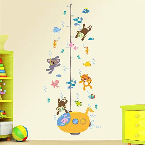 YIYAO Sticker Mural Pour Chambres D'Enfants Enfants Mesure De La Croissance Croissance Tableau Home Decor Wall Decal