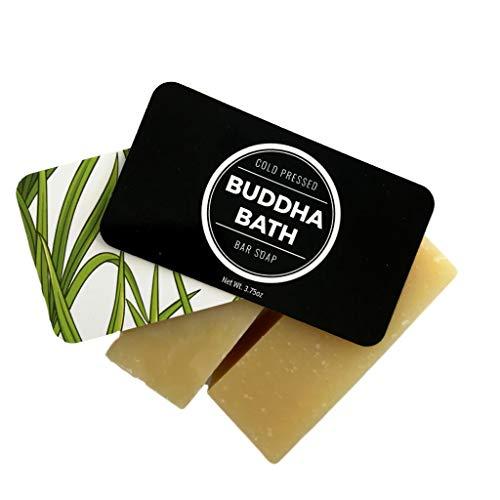 Buddha Bath Bar Soap All Natural Organic Cold Press Lemongrass For Men Women Face and Body (Lemongrass)