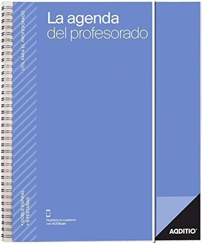 La Agenda del Profesorado Additio para el profesorado, 2019-20, colores...