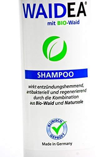 WAIDEA Shampoo mit BIO- Waid 200ml,Haarwäsche,bei Schuppenflechte,Psoriasis,Neurodermitis,sensible, empfindliche, entzündliche Kopfhaut,