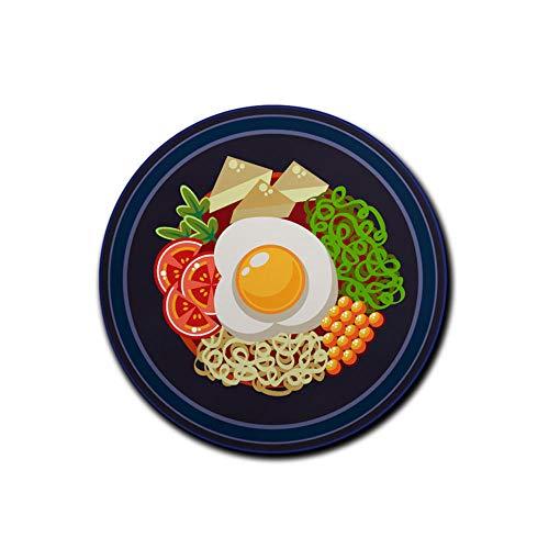 HmDco Gourmet Soep Noedels Ronde muismat Lock Edge Verdikte Computer Bureau Pad, 200x200x3 mm
