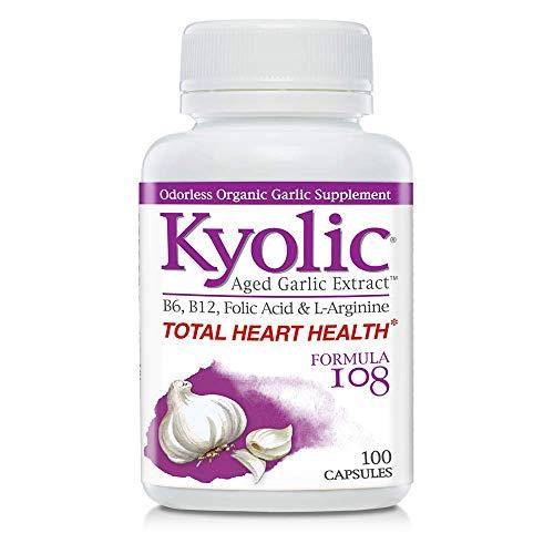 Kyolic Aged Garlic Extract Formula 108 Total Heart Health, 100 Capsules