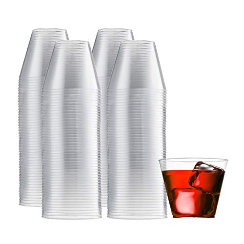 200 Clear Plastic Cups 9 Oz