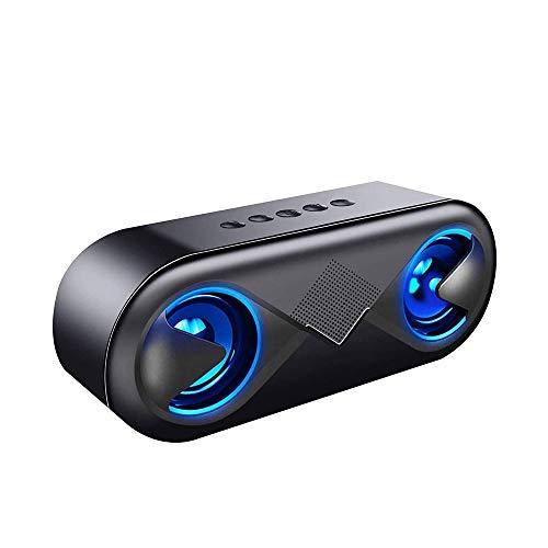 YUYANDE Altavoces Wireless 5.0 Bluetooth, Bluetooth portátil con subwoofer, Bass en Auge, Soporte inalámbrico al Aire Libre Soporte de Manos Libres, para el hogar, Fiesta, Camping, Viaje