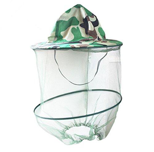 Katech Gorro de Camuflaje Apicultura Apicultor máscara de antimosquitos al Aire Libre Pesca y Camping mosquitero Sombrero Equipo de protección