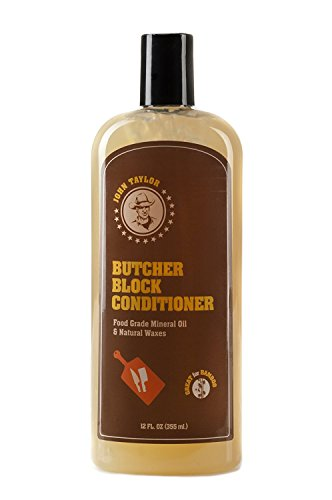 John Taylor Butcher Block Conditioner Food Grade Mineral Oil and Natural Waxes