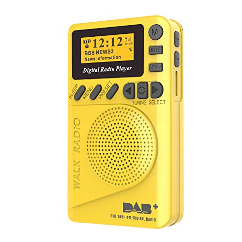 ZHONGLI Battery Operated Portable Pocket Radio - P9 Mini Pocket DAB Digital Radio FM Digital Demodulator Portable MP3 Player