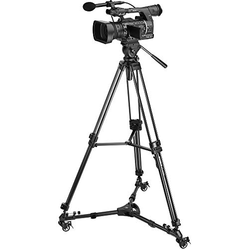 Magnus VT-4000 Video Tripod System & Universal Tripod Dolly Kit