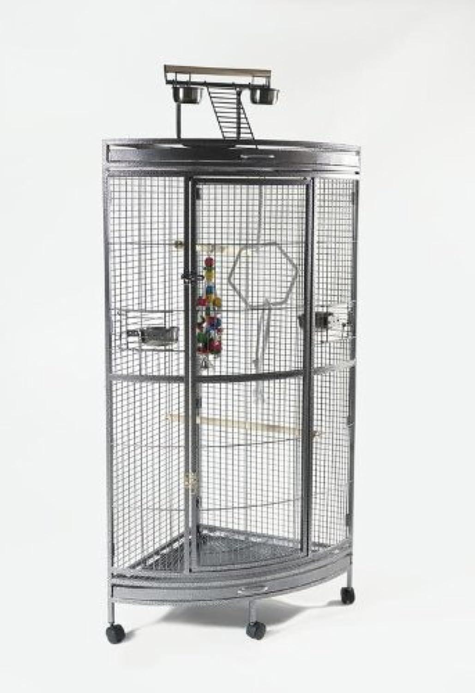 Liberta Corner Parred Cage  Grey