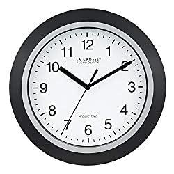 La Crosse Technology WT-3102B 10-Inch WWVB Self-Set Analog Wall Clock and Automatic DST Reset