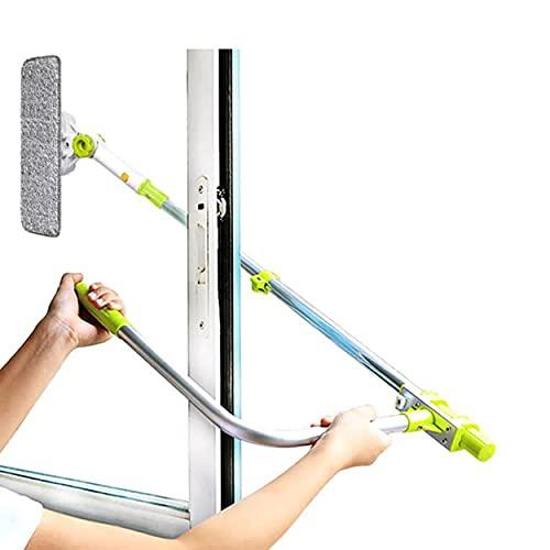 Sudatek nuovo arrivo lavavetri finestra telescopico strumento di pulizia Smart angolo regolare Wash bar detergente con lavavetri per finestra double-face esterna