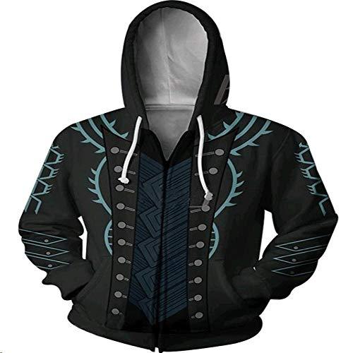 Herbst Und Winter 3D Sweatshirt Hoodie Strickwaren Pullover Cosplay Anime HD 3D Drucken Unisex Taschen Reißverschluss Tops Iron Fist L
