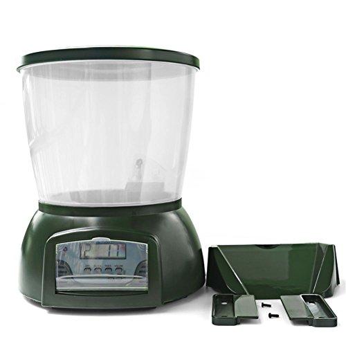 N/A Alimentador automático de peces de estanque alimentador de alimentos de pescado dispensador digital temporizador alimentador con LCD