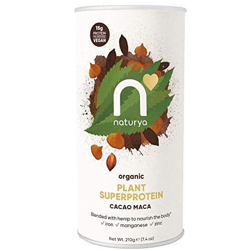 NATURYA Organic Maca Super Protein, Cacao (Chocolate), 1 Count
