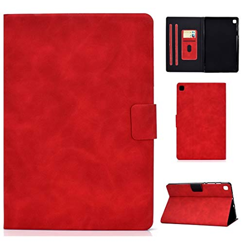 Zhangsihong Protective Case For Samsung Galaxy Tab S6 Lite P610/P615 Cowhide Texture Horizontal Flip Leather Case with Holder & Card Slots & Sleep/Wake-up Function (Color : Red)