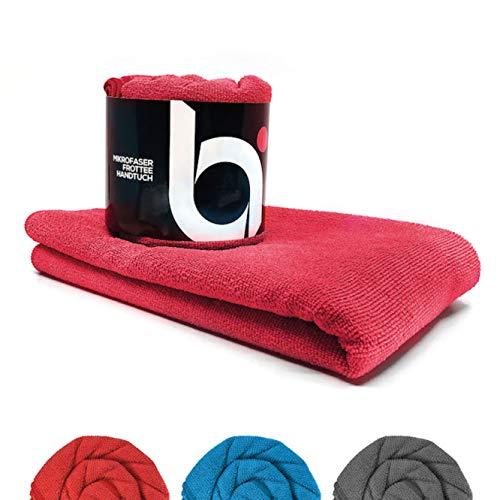 baenger Mikrofaser Handtuch mit Frottee Struktur I Antibakterielle Microfaser Handtücher schnelltrocknend I Saugfähiges Badetuch, Reisehandtuch, Sport I M (170x80cm)
