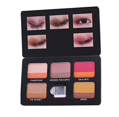 Snaro Paleta de sombras de ojos a prueba de agua duradero maquillaje mate de la sombra de ojos Shimmer mate paleta 5 colores (A)