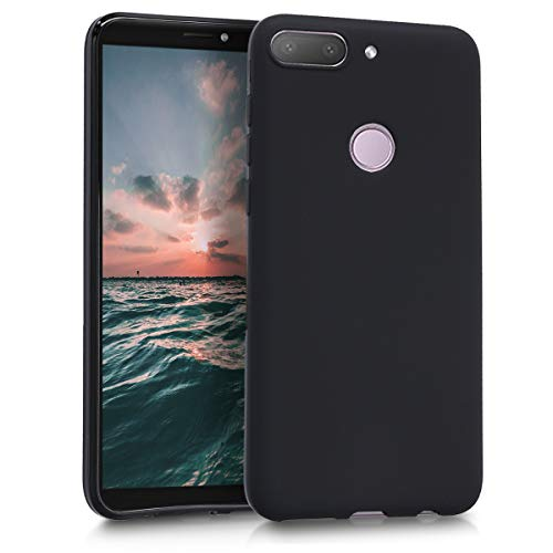 kwmobile Hülle kompatibel mit HTC Desire 12+ - Hülle Silikon - Soft Handyhülle - Handy Case in Schwarz matt