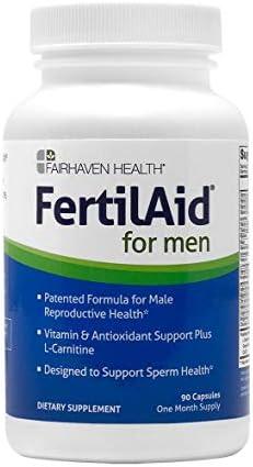 FertilAid for Men – Male Fertility Supplement – Sperm Count Booster, Motility Support, & Healthy Morphology Enhancer – Sperm Booster & Men's Vitamin Blend (90 Capsules / 1 Month Supply)