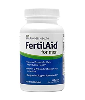 FertilAid for Men Male Fertility Supplement Supports Healthy Sperm Count Motility and Morphology Men s Fertility Supplement Sperm Booster and Vitamin Blend for Fertility  1 Month Supply