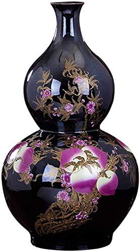 FTFTO Living Equipment Vase Ceramic Classical Creative Highgrade for Home Household Wedding Living Room Bedroom Office Table Black 36 x 61 cm Decorations