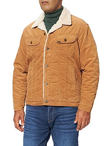 Lee Sherpa Jacket Chaqueta Vaquera, marrón, M para Hombre