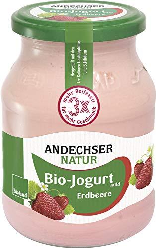 Andechser Natur Bio Bio Jogurt Erdbeer 3,7% (6 x 500 gr)