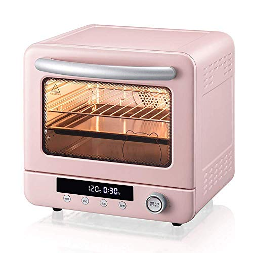 Riyyow Pastel de Hornear para el hogar Completa automática de 20L de 20L Mini Horno pequeño, Tubo de calefacción Oculto, Pantalla Digital Inteligente, fácil de Limpiar, 26-230
