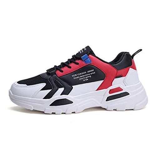 IDE Play Hommes Femmes Chaussures de Course Sport Formateurs Sneakers pour Absorber Les Chocs de Marche Gym Jogging Fitness Casual Athletic,Whitered,39