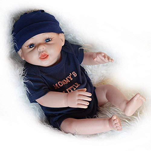 Reborn Dolls, Simulationspuppe Weiches Silikonbad Baby Frühpädagogische Begleiterin für Mutter und Kind 50 cm Junge, A, pflegende Puppen