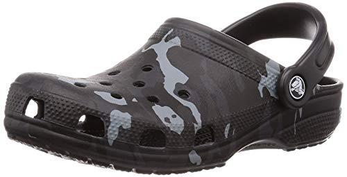 Crocs Classic Seasonal Graphic, Zoccoli Unisex-Adulto, Nero (Black/Grey 097), 38/39 EU