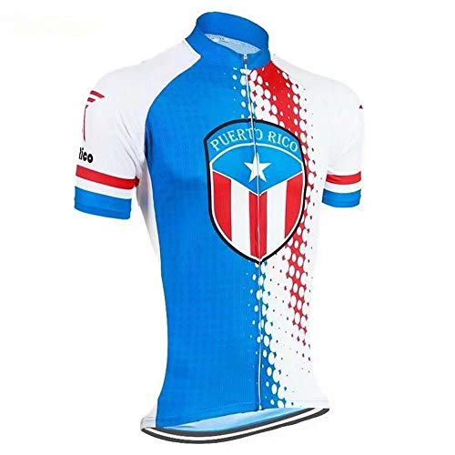Hirb God - Country Jerseys - Love Your Country! Cycling Jerseys & Sets Collection - Team Puerto Rico Women's Cycling Jersey - Blue - 5XL