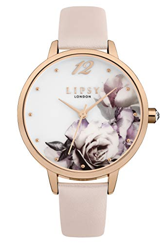 Lipsy Damen Analog Quarz Uhr mit PU Armband LP595
