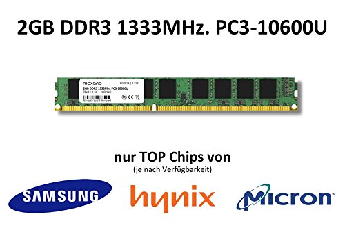 2GB DDR3 1333Mhz PC3-10600U 1,5V 2Rx8 240 PIN PC Arbeitsspeicher Memory