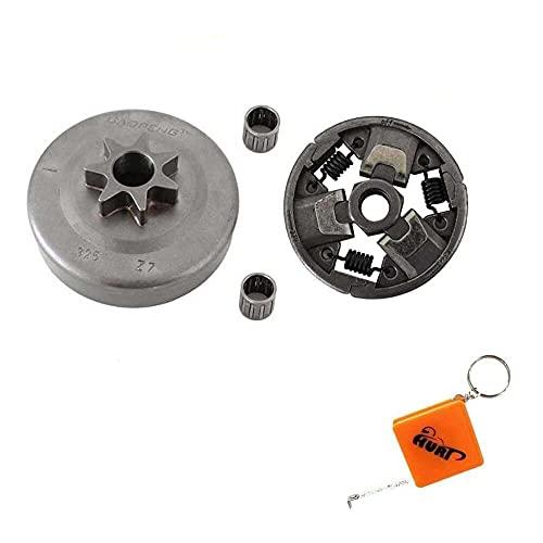 Gmasuber Kit de rodamientos de piñón de tambor de embrague para motosierra Stihl MS260 024 026