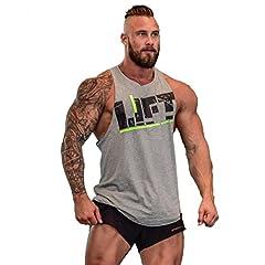 Befox Camisetas Elástica de Fitness sin Mangas Tank Top Gym para Hombre