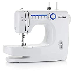 Tristar sewing machine - free arm machine with 10 pre-set programs, speed control, forward and reverse sewing function, SM-6000