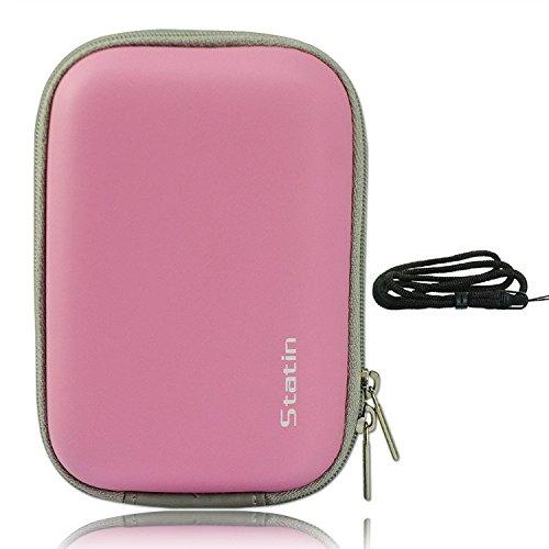 first2savvv BDX0902ODH02 rosa prueba de golpes a compacto bolsa de la cámara...