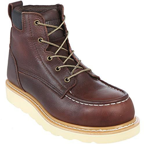 Ever Boots, puntera de acero, botas de trabajo, Marrón, 9.5 Wide