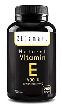 NOTRE VITAMINE E NATURELLE (D-Alpha-Tocophérol) est un antioxydant qui protège les cellules contre les dommages liés au stress oxydatif. C'est la clé pour un système immunitaire fort, une belle peau et une vision protégée. FORMULE avec Vitamine E 400...