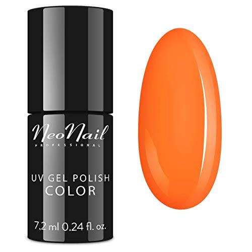 NeoNail UV Nagellack 7,2 ml - Candy Girl Delicious - UV Lack Gel Polish Soak off Nagellack UV Gel LED Polish Lack Shellac (3190-7 Neon Orange)