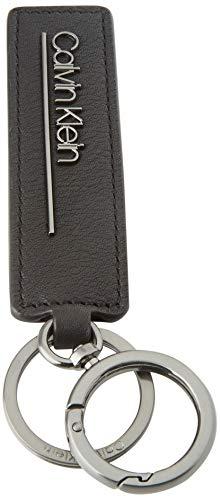 Calvin Klein Ck Bombe' Keyfob - Portachiavi ad anello e catena Uomo, Nero (Blackwhite Black), 1x1x1 cm (W x H L)