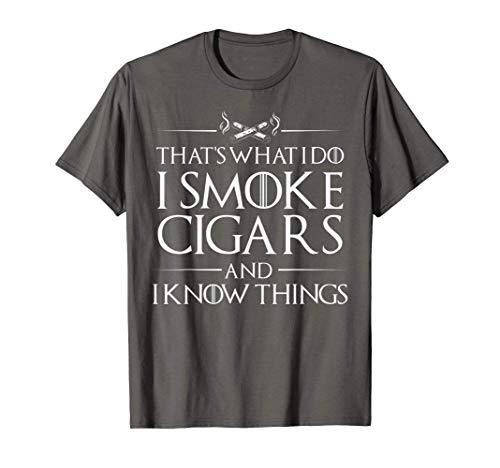 Smoke Cigars Smoker Shirt - Ideal Clever Class Men Gift T-Shirt