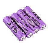 4 unids / set 18650 Battery 3,7 V 9800 mAh batería recargable de iones de litio para linterna LED batería de repuesto portátil para antorcha