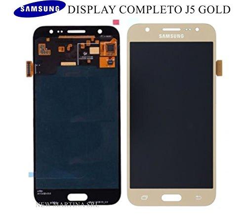 Samsung J500 Galaxy J5 LCD Touch Screen Display Glas Front gold Original Neu mit Service Pack