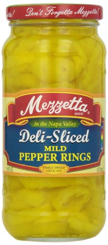Mezzetta Deli-Sliced Pepper Rings, Mild, 16 Ounce