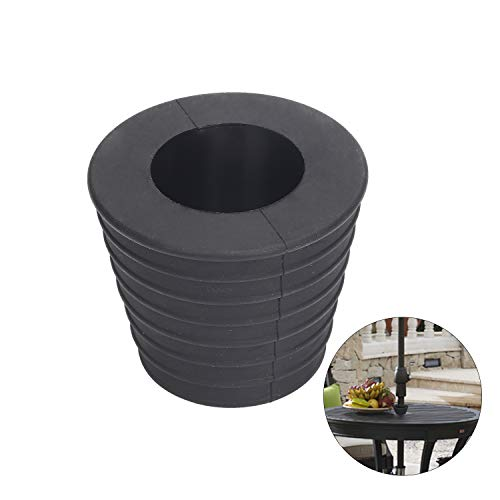 Soporte para sombrilla, cono de sombrilla, para agujero de mesa en patio, abertura de agujero de 2,7 pulgadas o base de 1,9 a 2,7 pulgadas, se adapta a paraguas de 1,5 pulgadas.